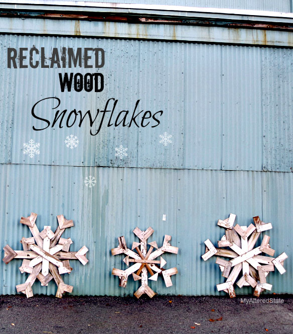 Reclaimed Wood Snowflakes