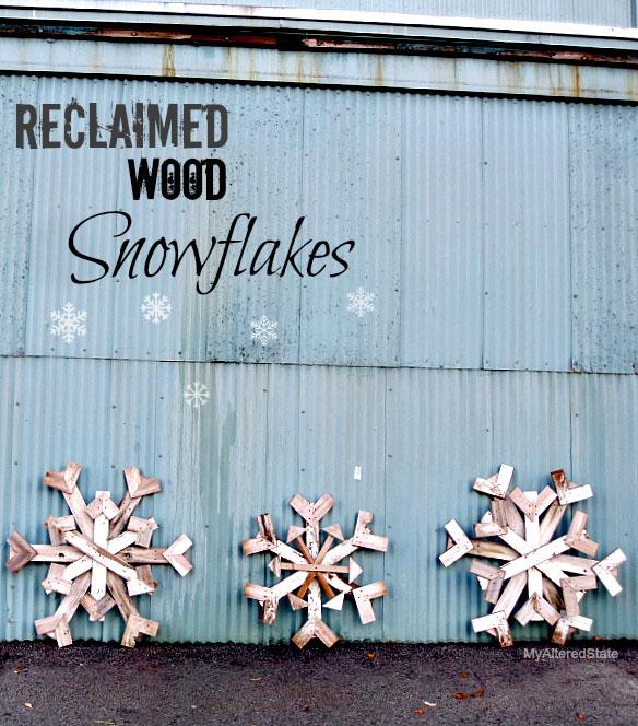 Reclaimed Wood Snowflakes