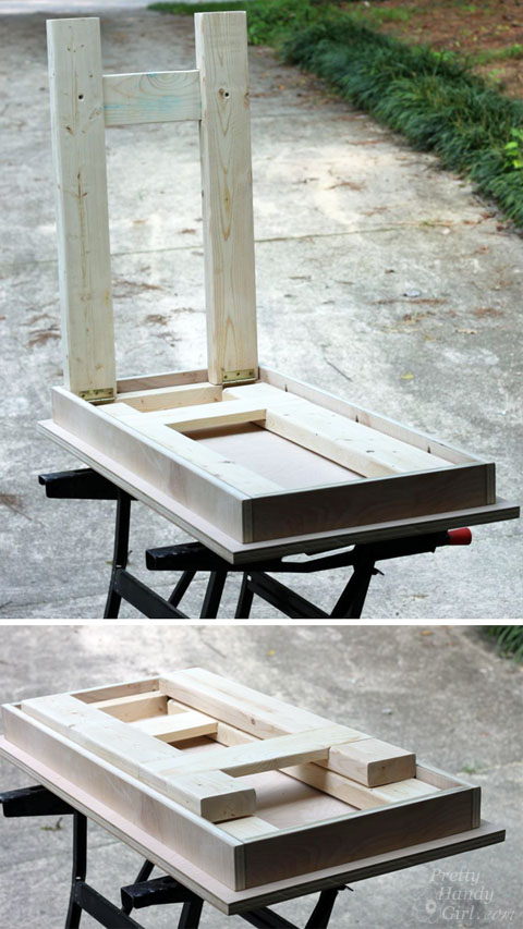 Folding Laptop Writing Desk | Pretty Handy Girl