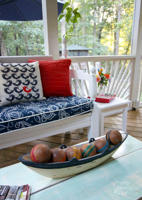 Screen Porch Decorated for Fall | Pretty Handy Girl