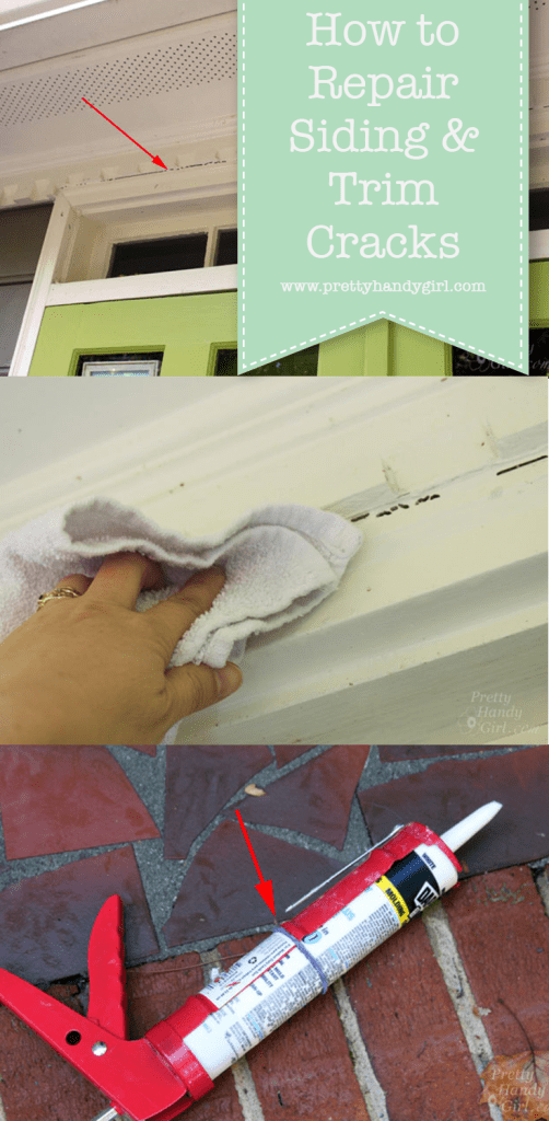 repair cracks in siding and trim with caulk