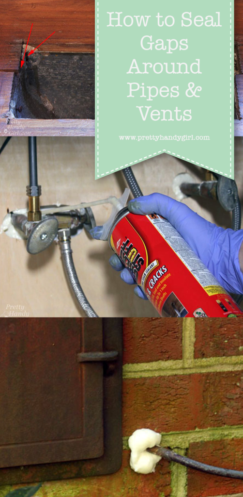 sealing pipes with foam