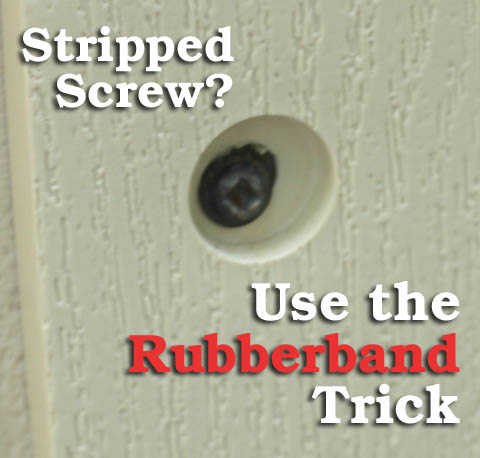 Stripped Screw? Use the Rubberband Trick   Pretty Handy Girl