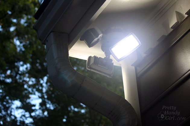 How to install an exterior motion sensor light how to install an exterior security light pretty handy girl aloadofball Gallery