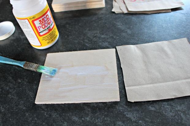 paper bag ornament step 2