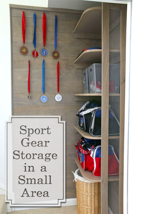 Stupendous Sports Gear Storage Shelves In A Small Space Pretty Handy Girl Download Free Architecture Designs Scobabritishbridgeorg