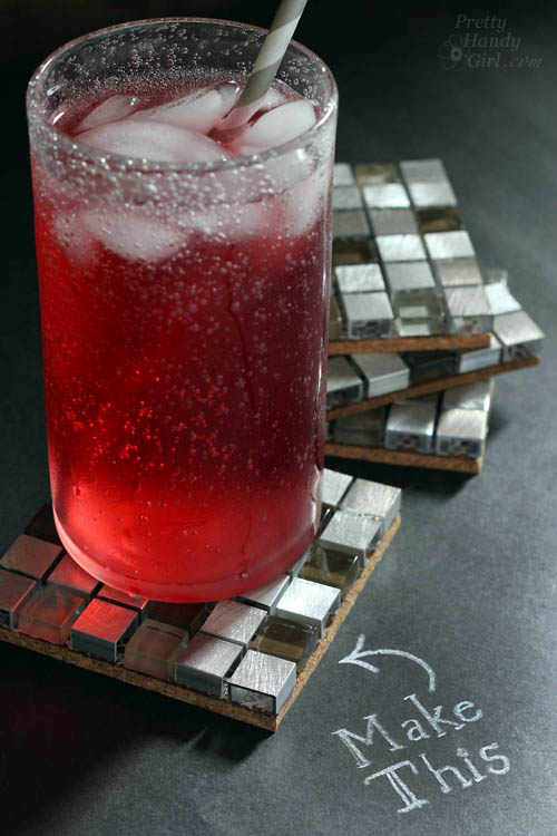 mosaic glass coaster