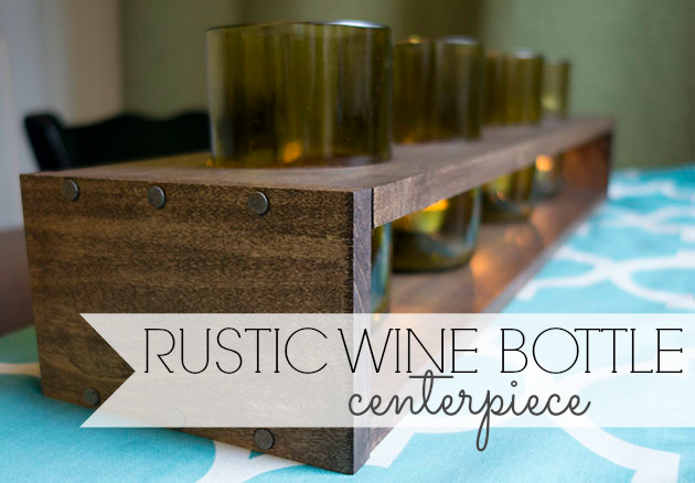 rustic wine bottle centerpiece
