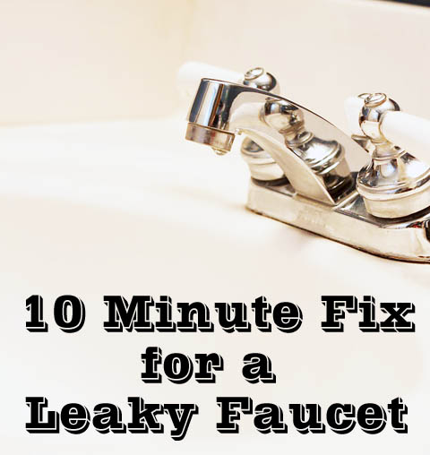 repairing a leaky faucet | Fix a Leaky Faucet in 10 Minutes
