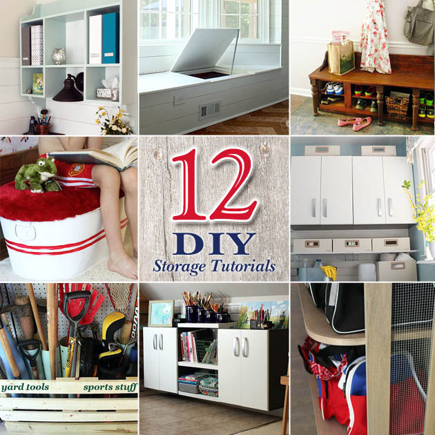 12 DIY Home Storage Tutorials | Pretty Handy Girl