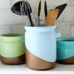 DIY Metallic Color Blocked Canisters