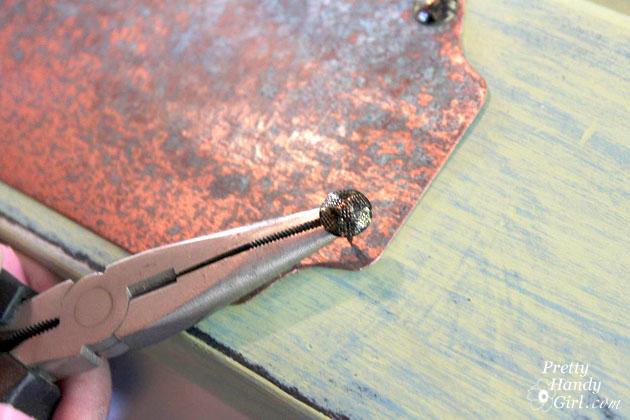 attaching sheet metal to door