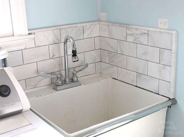 tile setting marble tiles without