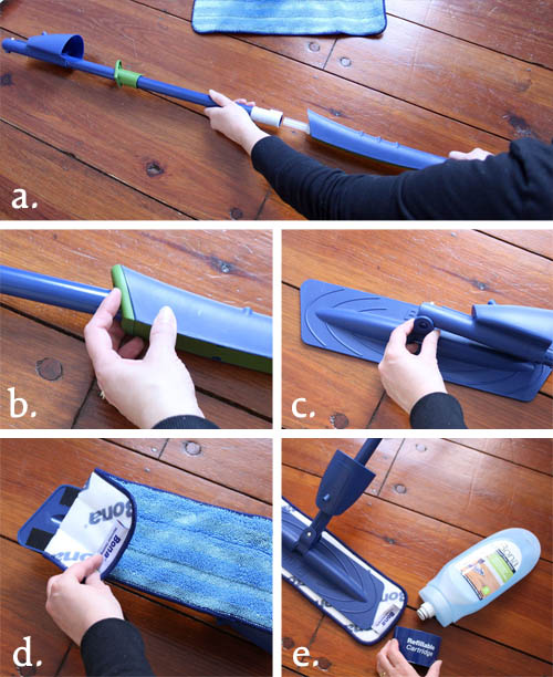 How to Assembler a Bona Hardwood Floor Cleaner Mop | Pretty Handy Girl