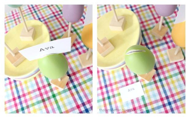 egg placecard name slot
