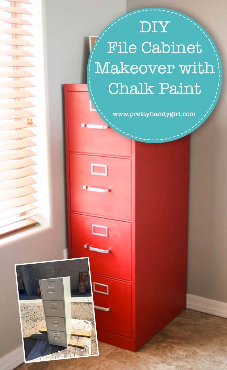 DIY File Cabinet Makeover with Chalk Paint | Pretty Handy Girl
