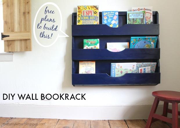 DIY wall bookrack