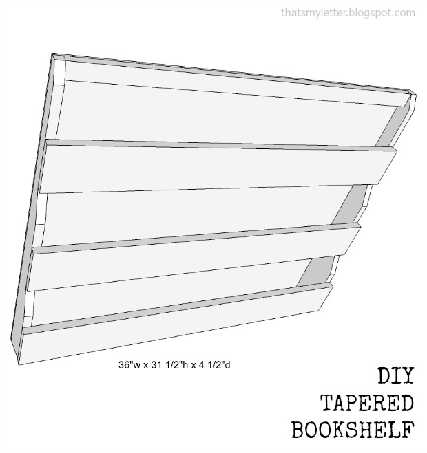 bookshelf tapered plans