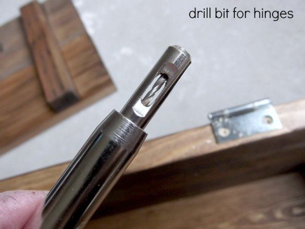 drill bit for installing hinges