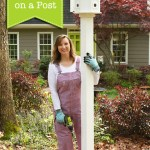 How to Install a Birdhouse on a Post #DIYCourage
