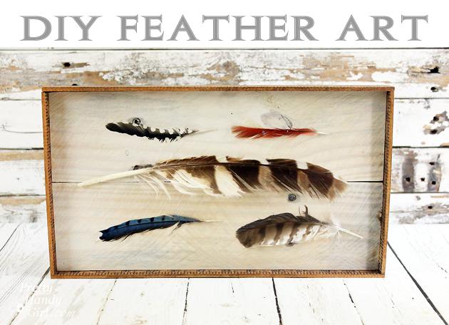 DIY Feather Art | Pretty Handy Girl