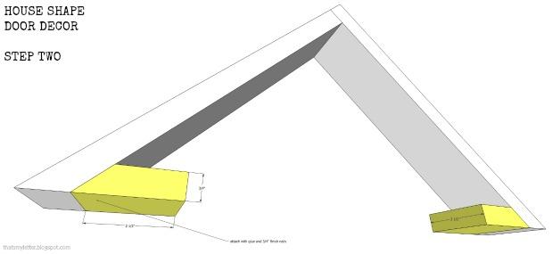 house shape door decor step 2