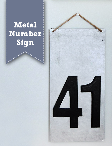 Metal Number Sign   Pretty Handy Girl