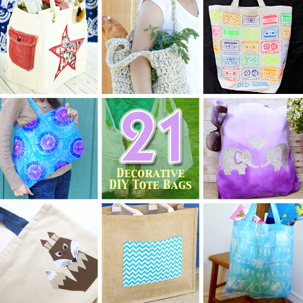 d798610955ca 21 Ways to Make and Decorate Totebags - Pretty Handy Girl