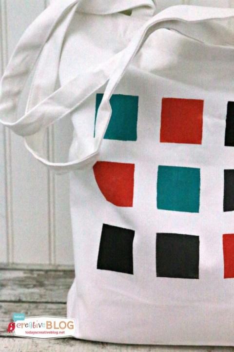 DIY Color Block Tote