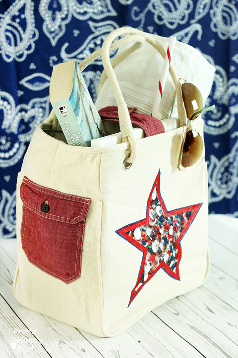 Customize a tote bag with an old shirt