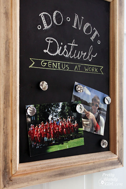 Upcycled Magnetic Chalkboard Frame | Pretty Handy Girl
