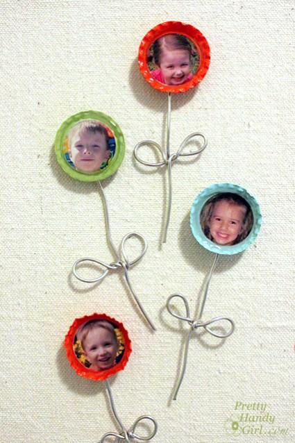 Bottlecap Photo Magnets