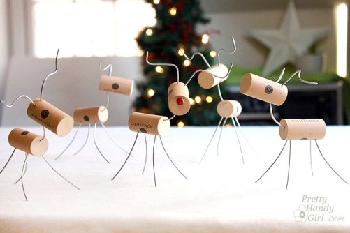 Cute Wine Cork Reindeer