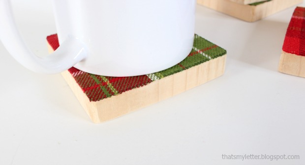 fabric & wood coasters 3