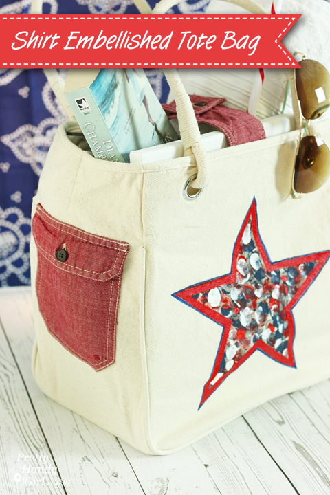 Shirt Embellished Tote Bag
