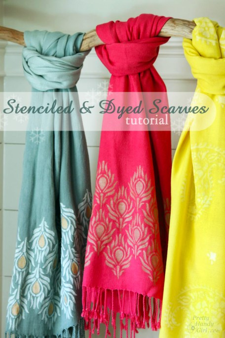 Stenciled Dyed Scarf