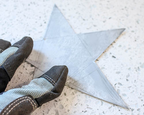 Galvanized Metal Star Garland | Pretty Handy Girl