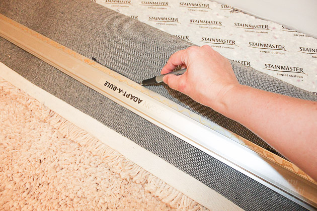 Faking Wall-to-Wall Carpet with an Area Rug | Pretty Handy Girl
