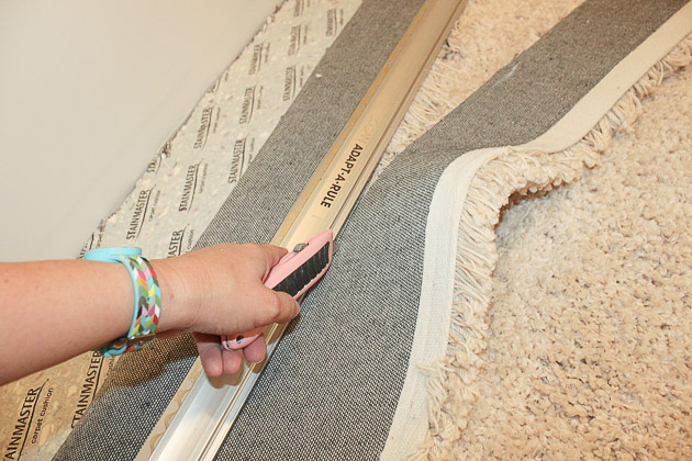 Faking Wall To Wall Carpet With An Area Rug Pretty Handy
