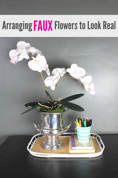 Arranging Faux Flowers to Look Real