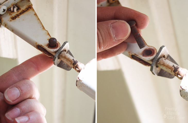 How to Replace a Screen Door Hydraulic Closer   Pretty Handy Girl