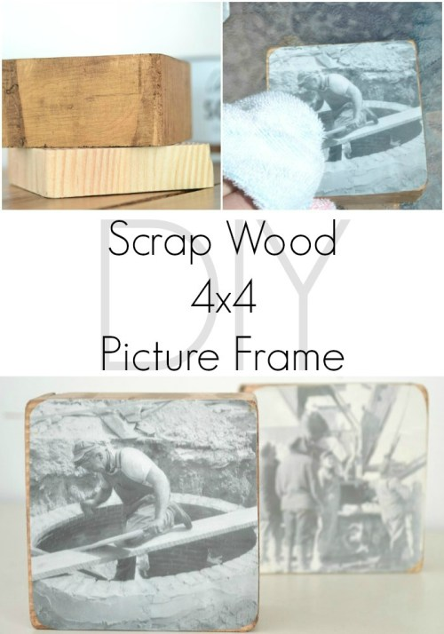 DIY 4x4 Scrap Wood Picture Frame