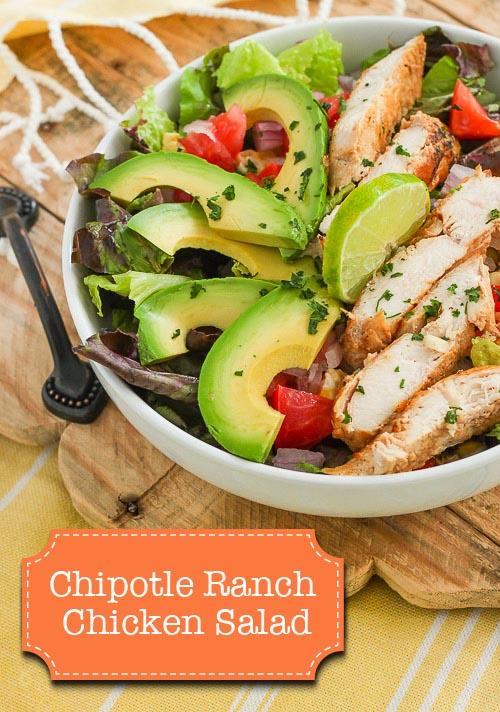 Chipotle Ranch Chicken Salad - Easy, Healthy and Delicious!   Pretty Handy Girl
