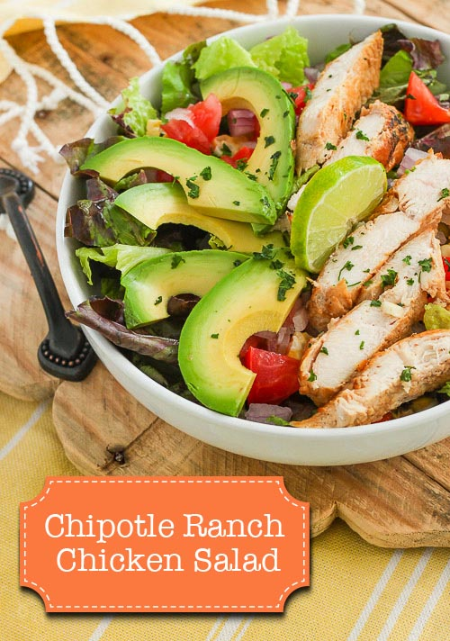 Chipotle Ranch Chicken Salad - Easy, Healthy and Delicious! | Pretty Handy Girl