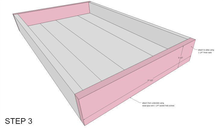 cedar underbed storage step 3