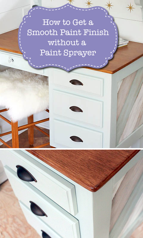 How to Get a Smooth Paint Finish without a Paint Sprayer | Pretty Handy Girl