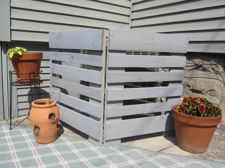 Make an Air Conditioner Screen with Pallets by Pretty Handy Girl