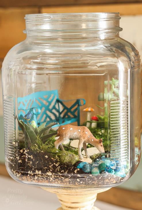 Woodland Fairy Garden in a Jar | Pretty Handy Girl