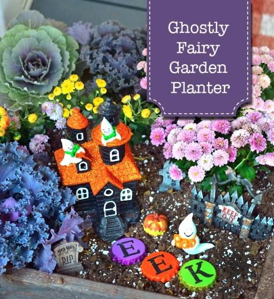 Ghostly Fairy Garden Planter