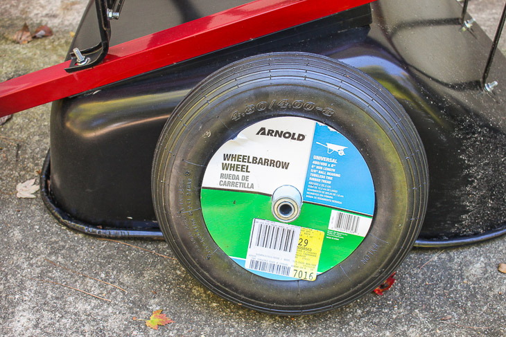 How to Replace a Wheelbarrow Wheel in 5 Minutes | Pretty Handy Girl